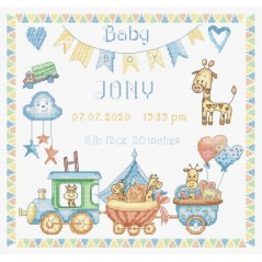Cross Stitch Kit Baby Boy Record LETI 936
