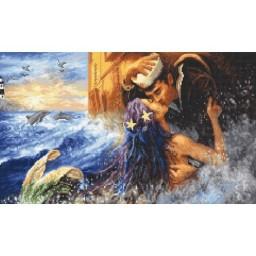 Cross stitch kit Mermaid kiss LETI 940