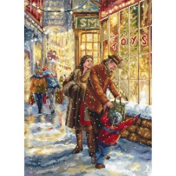 Cross stitch kit Christmas Expectation LETI 943