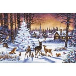 Cross stitch kit Christmas Wood LETI 947