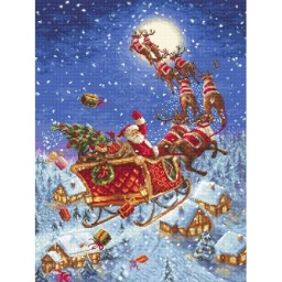 Cross stitch kit The reindeer on  its way LETI 958