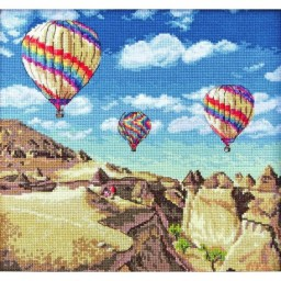 Cross Stitch Kit Balloons over Grand Canyon LETI 961
