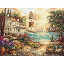 Cross stitch kit Cottage by the sea LETI 962