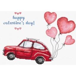 Cross stitch kit Happy Valentine's Day LETI 983