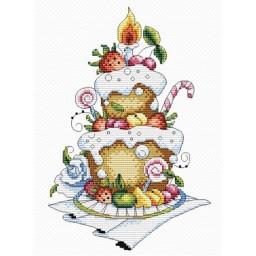 Cross Stitch Kit Fruit Dessert M-048