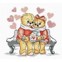 Cross Stitch Kit Bears Love M-079