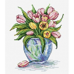 Cross stitch kit Soft flowers M-090