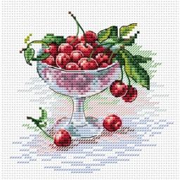Cross Stitch Kit Cherry Treat M-094