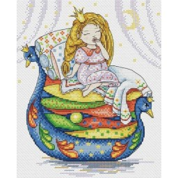 Cross Stitch Kit The princess and the Pea M-136
