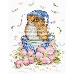 Cross Stitch Kit Good morning (owl) M-209