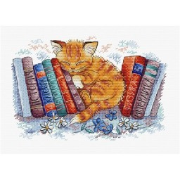 Cross stitch kit In the Silent place (cat) M-239