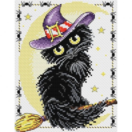 Cross Stitch Kit Black cat M-295