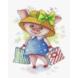 Cross Stitch Kit Shopping time M-298