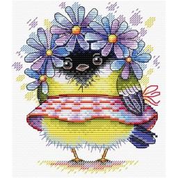 Cross Stitch Kit Romantic Bird M-299