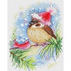 Cross Stitch Kit Christmas bird M-350