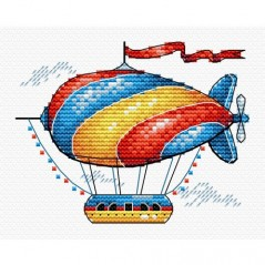 Cross Stitch Kit Fantastic Airplane M-365