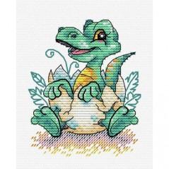 Cross Stitch Kit Baby Dinosaur M-376