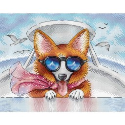 Cross stitch kit Living in Style (fox) M-391