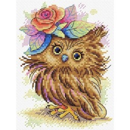 Cross Stitch Kit Charming owl M-396