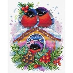 Cross Stitch Kit Winter house M-440