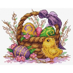 Cross Stitch Kit Easter Basket M-506