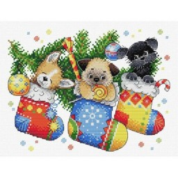 Cross Stitch Kit NEW YEAR'S SURPRISE M-566 Pre-order