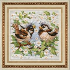 Cross Stitch Kit Little Sparrow M-009