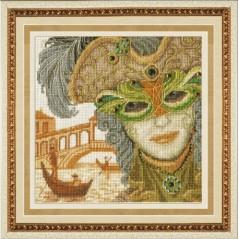 Cross Stitch Kit Venetian Mask - Him M-013