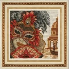 Cross Stitch Kit Venetian Mask - Her M-014
