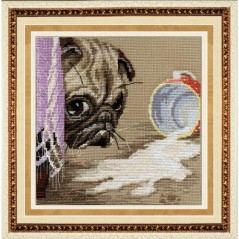 Cross Stitch Kit Dog at home M-023