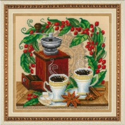 Cross Stitch Kit Coffee M-033