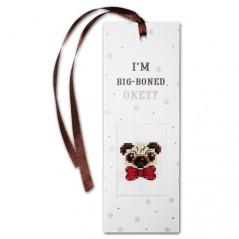 Cross Stitch Kit Bookmark I'm Big-Boned N-33