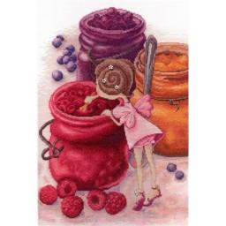 Cross Stitch Kit Berry Jam Fairy NV-610