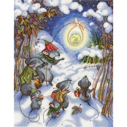 Cross stitch kit Christmas Time NV-644 Pre-order