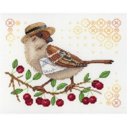 Cross Stitch Kit FEATHERED POSTMAN NV-645