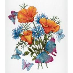 Cross Stitch Kit Favorite Flowers NV-653