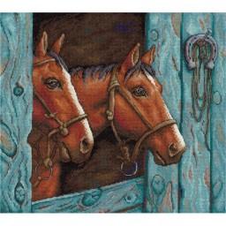 Cross stitch kit Pair of horses NV-663
