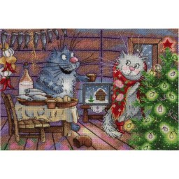 Cross stitch kit Christmas Night NV-682 Pre-order