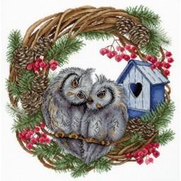 Cross Stitch Kit Owl Devotion NV-712