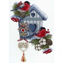 Cross Stitch Kit Frosty Nest NV-714