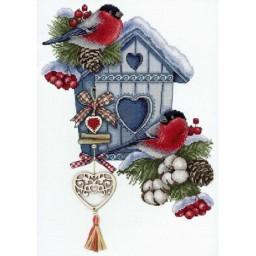 Cross Stitch Kit Frosty Nest NV-714
