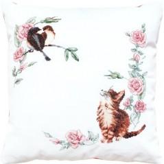 Cross Stitch Kit Pillow Cat PB-108