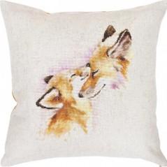 Cross Stitch Kit Pillow Foxes PB-163