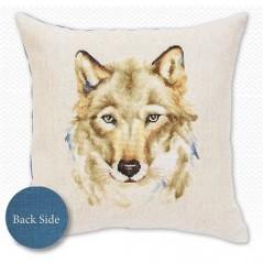 Cross Stitch Kit Pillow Wolf PB-164