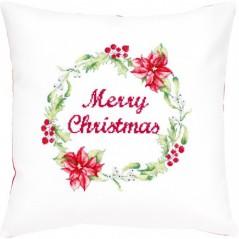 Cross Stitch Kit Pillow Merry Christmas PB-175