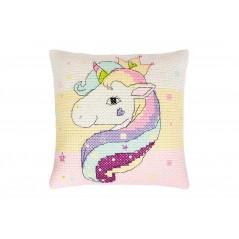 Cross Stitch Kit Pillow Unicorn PB181 Pre-order