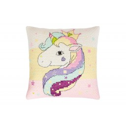 Cross Stitch Kit Pillow Unicorn PB181 Pre-order