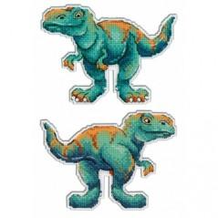 Cross Stitch Kit Dinosaurs-Tyrannosaurus R-271 on plastic canvas
