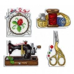 Cross Stitch Kit Needleworker-magnets R-339 on plastic canvas