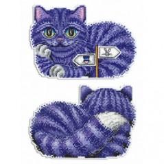 Cross Stitch Kit Cheshire Cat R-402 on plastic canvas